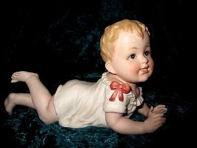 """~~Vintage Bisque Piano Baby by Andrea ~  #7536 ~ 7 1/2""""~~"""