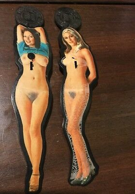 Vintage lot of Two Penthouse Swizzle Stripper Sticks Sexy Strippers 1970s