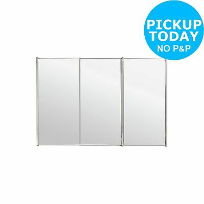 Argos Home 3 Door Mirrored Stainless Steel Bathroom Cabinet