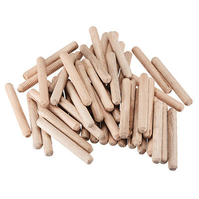 8x60mm Wooden Dowel Wood Kiln Dried Fluted Beveled Hardwood 50pcs
