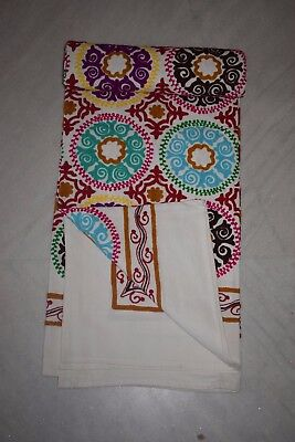 Uzbek Velour Embroidered Suzani Vintage/Antique Embroidery  Wall Hanging  110