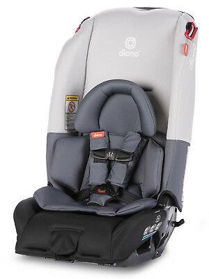 Diono Radian 3 RX All-in-One Convertible + Booster Child Safety Car Seat Grey Lt
