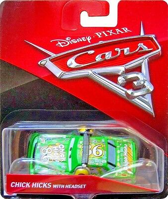 Disney Pixar Cars 3 Chick Hicks With Headset Mattel Diecast 1:55 Scale New 2017