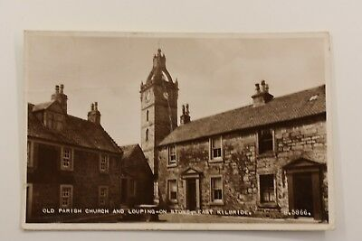 Old Parish Church And Louping On Stone East Kilbride Real Photo Posted 1958