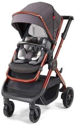Diono Quantum2 3-IN-1 Luxury Multi-Mode Reversible Seat Baby Stroller Charcoal