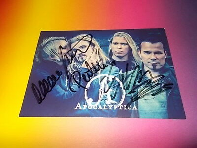 Apocalyptica band  signiert signed autograph postcard Autogramm in person