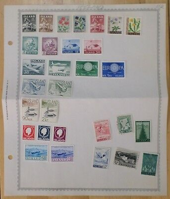 Iceland Lot of 29+  Stamps,  Minkus Pages - #11806-37