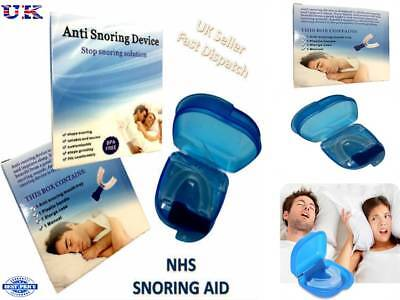 Uk Nhs Anti Snore Snoring Mouth Guard Device Sleep Aid Stop Apnoea Stop Snoring