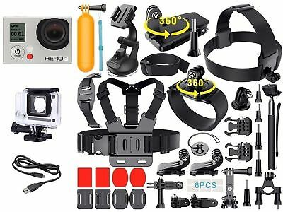 Gopro Hero 3 White Edition + Extreme Sports Kit Lot D'Accessoires Chdhe301