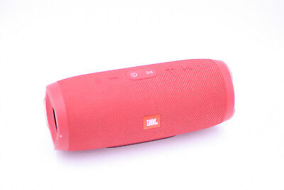 JBLCHARGE3 Red Waterproof Portable Rechargeable Bluetooth Speaker + Box