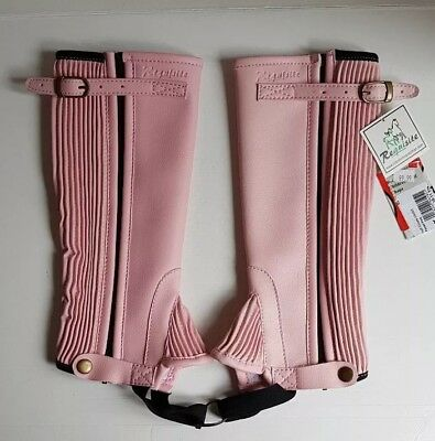 Brand New Pair of Pink Requisite Synthetic Childs Half Chaps Age 10-11 Years