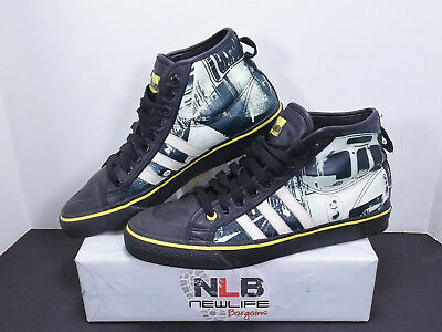 new product 05fc0 8ecfb RARE Adidas Originals Nizza high fakso G18294 Black Yellow Men s Sz 12