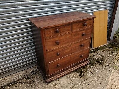 Beatiful Inlaid Edwardian Mahogany Chest Of Drawers