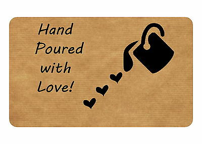 21 Hand Poured Candle / Soap Personalised Glossy Stickers, Seals Labels