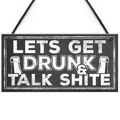 Funny Alcohol Sign Vodka Gin Beer Gifts Man Cave Home Bar Pub Hanging Plaque