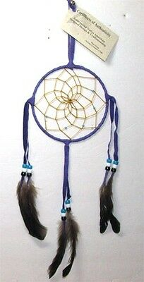 "Purple Dreamcatcher Native American made 5"" dia hoop FREE SHIPPING #408"