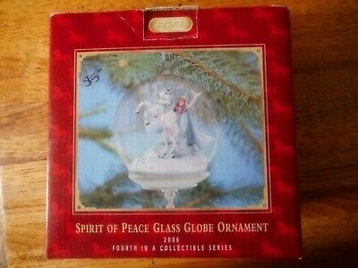 Breyer Spirit of Peace Glass Globe Ornament 2006 fourth in the collection NIB