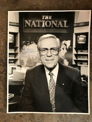 8x10 photo signed by former CBC newscaster KNOWLTON NASH