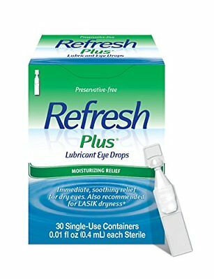 Refresh Plus Lubricant Lubricating Eye Drops 30 Count 01/18 A249