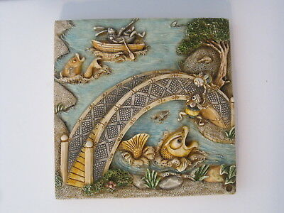 Harmony Kingdom Picturesque Byron's Secret Garden Bumble's Bridge Tile PXGB3