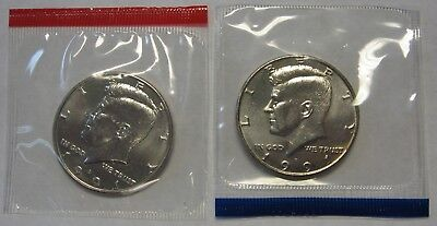 1991-P and 1991-D Gem BU Kennedy Half Dollars in Original Mint Cello Packs