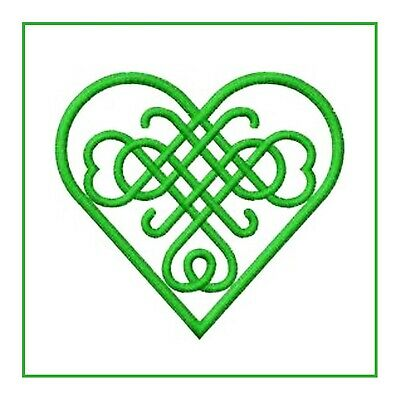 Celtic Knot Heart in Green Counted Cross Stitch Pattern
