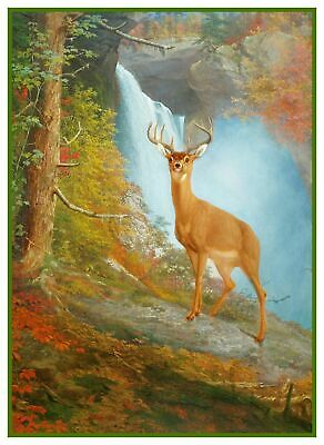 William Holbrook Beard Majestic Stag Deer Counted Cross Stitch Chart Pattern