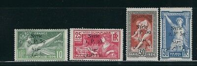 SYRIA 1924 PARIS OLYMPICS 2nd OVERPRINT Nicely centred set of 4 VF MH fresh