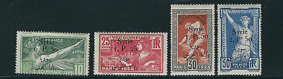 SYRIA 1924 PARIS OLYMPICS 2nd OVERPRINT complete set of 4 VF MH fresh