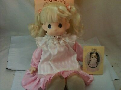 "1993 Precious Moments Doll #1003 16"" Pink Missy New in Box w/Tag"