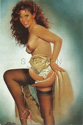 Original Limited Edition French Artistic Nude Pinup PC- Michel Gourdon- 1994