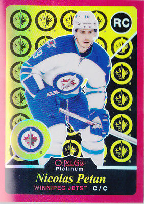 15-16 OPC Platinum Nicolas Petan /15 Retro RED Rainbow Rookie Winnipeg Jets 2015