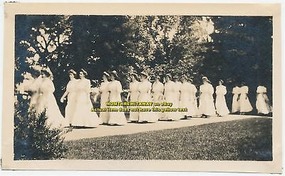 1908 Photo Wheaton College Norton MA Women Students Graduation Procession