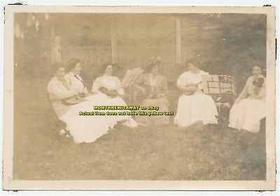1908 Photo Wheaton College Norton MA Women's Orchestra Band Massachusetts