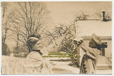 1908 Photo Wheaton College Norton MA 2 Women Theatre Costumes Dancing