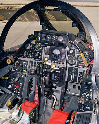 F-14 TOMCAT COCKPIT 11x14 SILVER HALIDE PHOTO PRINT