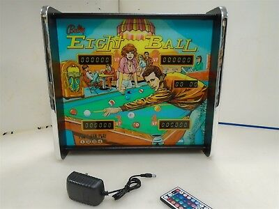 Bally Eight Ball Pinball Head LED Display light box