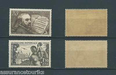 FRANCE - 1942 YT 542 à 543 - TIMBRES NEUFS** MNH LUXE