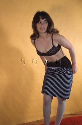 Vintage Amatore Semi Nude 1950s-60s 35mm per Slide / Negative- Fishnets- Gonna