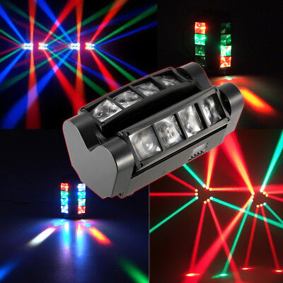 120W RGBW Spider Moving Head Stage Lighting Beam LED Disco Party Lights DJ R8U4