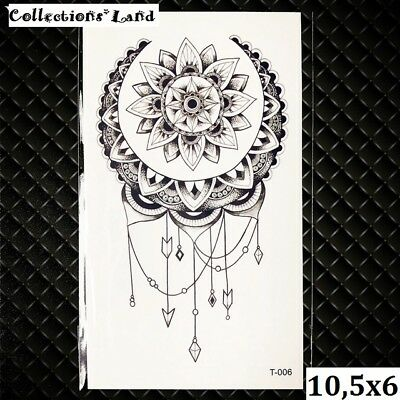 Tatouages Temporaire / Temporary Tattoo  Lotus (T-006)