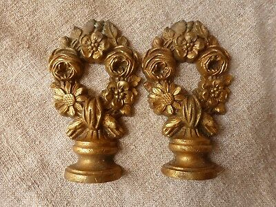 Pair Of Antique  French  Gilt Bronze Finials .