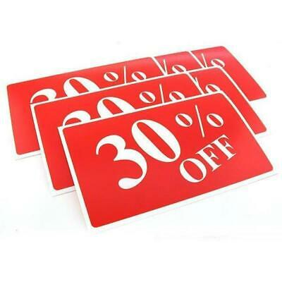 6 30% Off Display Signs Showcase Window Sale  Message