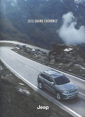 2015 Jeep Grand Cherokee Overland Laredo Limited Sales Brochure w/Buyer's Guide