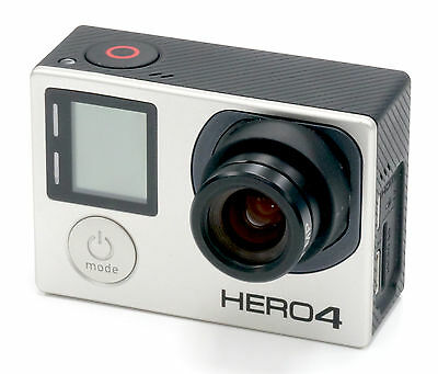 Gopro Hero 4 BLACK Edition 4K Action Camcorder With 7.2mm (40mm) f/2.5 Lens
