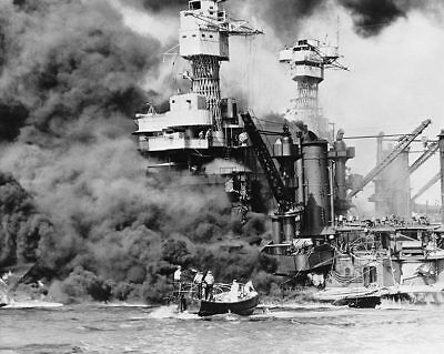 Militaria Pearl Harbor Bombing From Distance Wwii 11x14 Silver Halide Photo Print Customers First Collectibles