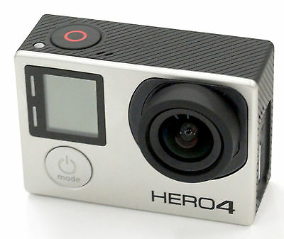 Gopro Hero 4 BLACK Edition 4K Action Camcorder With 3.37mm (19mm) f/2.8 Lens