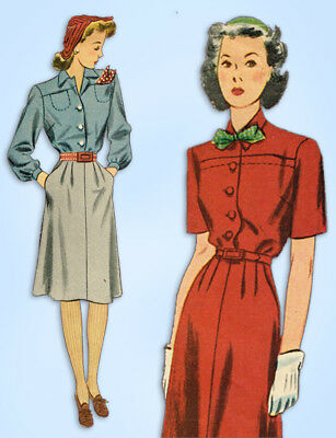 1940S JAHRE VINTAGE Simplicity Schnittmuster 3695 WWII Misses ...