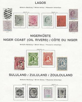 British Colonies stamps Collection of 13 CLASSIC stamps HIGH VALUE!
