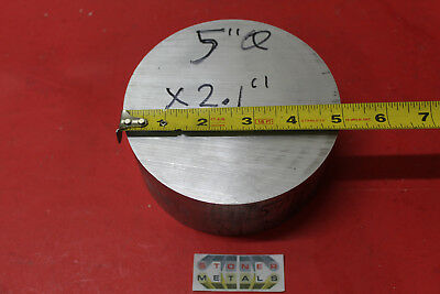 "5"" ALUMINUM 6061 ROUND ROD 2.1"" LONG T6511 Solid Lathe Bar Stock 5.0"" diameter"